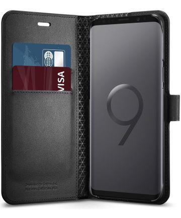 Spigen Wallet S Flip Hoesje Samsung Galaxy S9 Plus Zwart