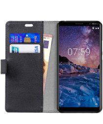 Nokia 7 Plus Portemonnee Hoesje Zwart