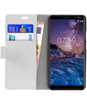 Nokia 7 Plus Portemonnee Hoesje Wit