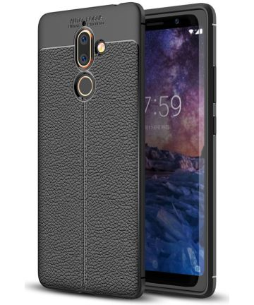 Nokia 7 Plus Rugged Armor Brushed TPU Hoesje Zwart