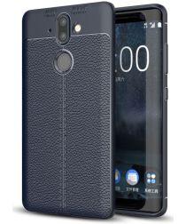 Nokia 8 Sirocco Rugged Armor Brushed TPU Hoesje Blauw