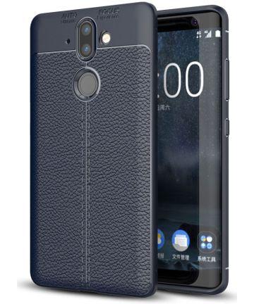 Nokia 8 Sirocco Rugged Armor Brushed TPU Hoesje Blauw Hoesjes