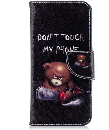 Huawei P20 Portemonnee Hoesje met Teddy Print Hoesjes