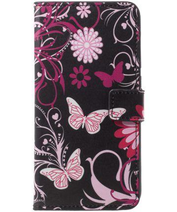 Huawei P20 Pro Portemonnee Hoesje Print Roze Vlinders