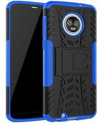 Motorola Moto G6 Hybride Hoesje met Standaard Blauw