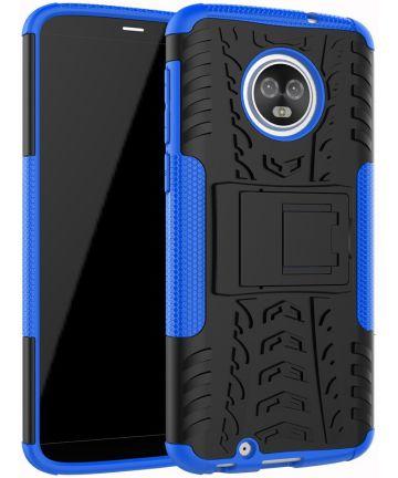 Motorola Moto G6 Hybride Hoesje met Standaard Blauw Hoesjes