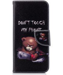 Motorola Moto G6 Portemonee Hoesje met Teddy Print