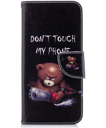 Motorola Moto G6 Portemonee Hoesje met Teddy Print Hoesjes