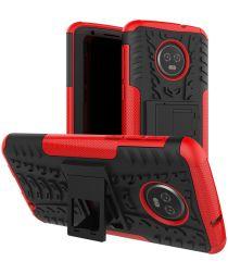 Motorola Moto G6 Plus Robuust Hybride Hoesje Rood