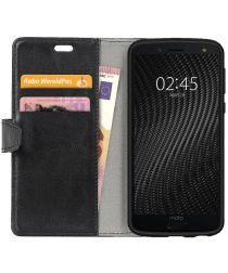 Motorola Moto G6 Plus Hoesje met Kaarthouder Zwart