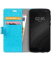 Motorola Moto G6 Plus Hoesje met Kaarthouder Blauw