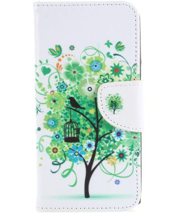 Sony Xperia XA2 Lederen Portemonnee Hoesje met Print Boom