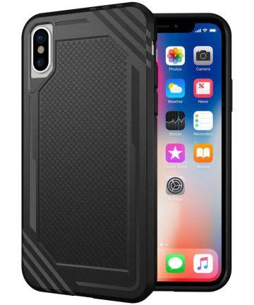 Apple iPhone X TPU Hoesje Extra Grip Zwart Hoesjes