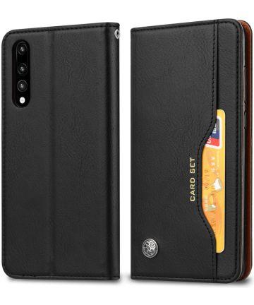 Huawei P20 Luxe Portemonnee Hoesje Zwart Hoesjes