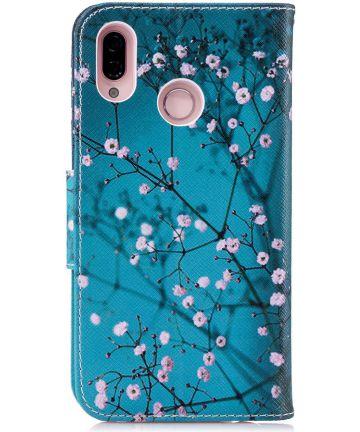 Huawei P20 Lite Portemonnee Hoesje met Winter Print Hoesjes