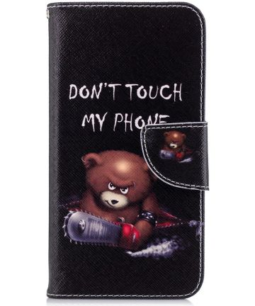 Huawei P20 Lite Portemonnee Hoesje met Don't Touch My Phone Print