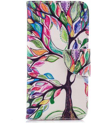 Huawei P20 Lite Portemonnee Hoesje met Tree Print