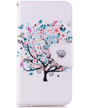 Huawei P20 Lite Portemonnee Hoesje met Lente Print Hoesjes