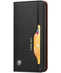 Huawei P20 Pro Luxe Portemonnee Hoesje Met Kaarthouder Zwart
