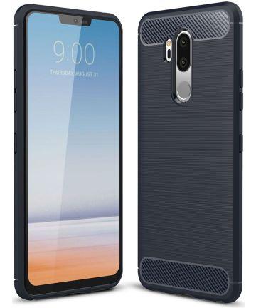 LG G7 Geborsteld TPU Hoesje Blauw Hoesjes