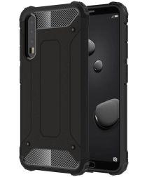 Huawei P20 Pro Hybride Beschermhoesje Zwart