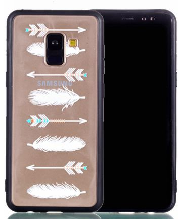 Samsung Galaxy A8 (2018) Hybrid Armor Back Cover met Feathers Print