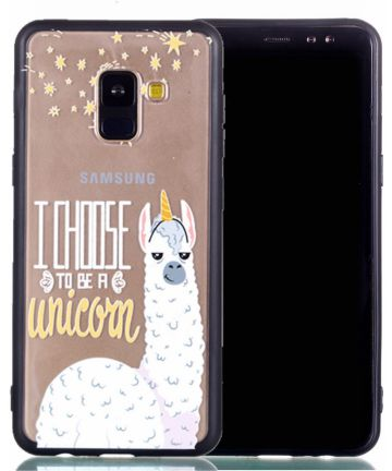 Samsung Galaxy A8 (2018) Hybrid Armor Back Cover met Quote Print