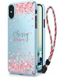 Ringke Design Slim Apple iPhone X Cherry Blossom Sky Blue