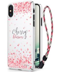 Ringke Design Slim Apple iPhone X Cherry Blossom White