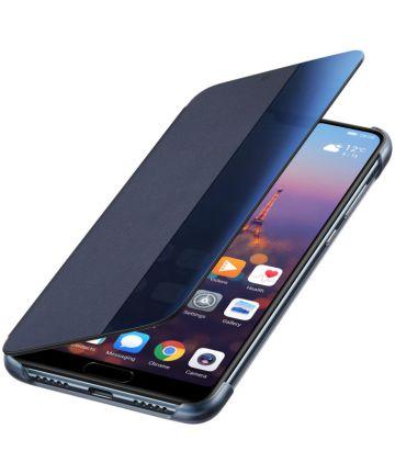 Huawei P20 Originele Flip Cover Blauw Hoesjes