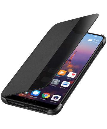 Huawei P20 Originele Flip Cover Zwart Hoesjes