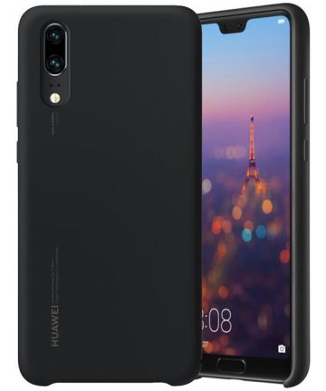 Huawei P20 Originele Silicon Case Zwart Hoesjes