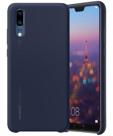 Huawei P20 Originele Silicon Case Blauw Hoesjes