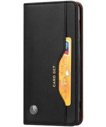 Sony Xperia XZ2 Hoesje Kaarthouder Portemonnee Zwart