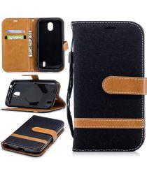 Nokia 1 Portemonnee Hoesje Zwart