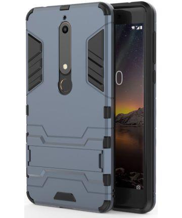 Nokia 6 (2018) Hybride Hoesje met Kickstand Blauw