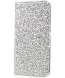 Huawei P Smart Bookcase Glitter Zilver