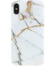 iPhone X Marmer Design TPU Hoesje Goud