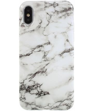 iPhone X Marmer Design TPU Hoesje Wit