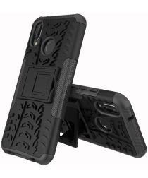 Huawei P20 Lite Robuust Hybride Hoesje Zwart