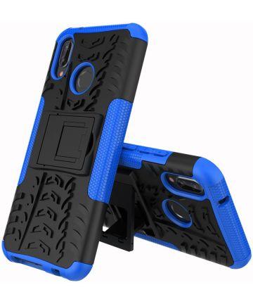 Huawei P20 Lite Robuust Hybride Hoesje Blauw Hoesjes