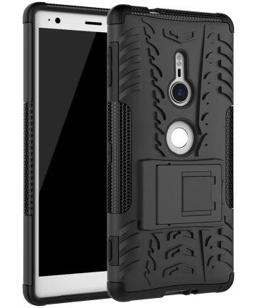 Sony Xperia XZ2 Hybride Hoesje met Kickstand Zwart
