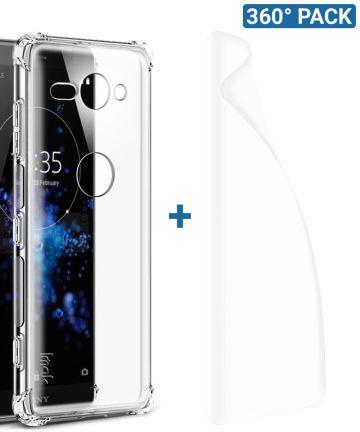 IMAK Sony Xperia XZ2 Compact Hoesje met Screenprotector Transparant Hoesjes