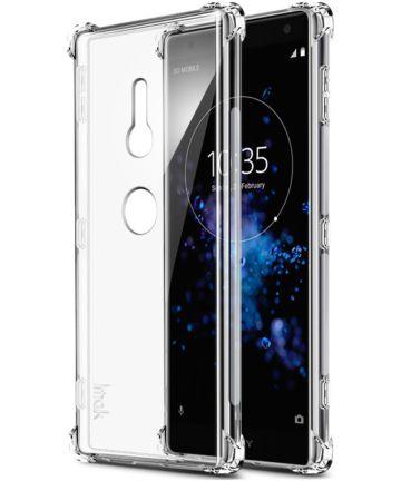 Sony Xperia XZ2 TPU Hoesje met Display Folie Transparant