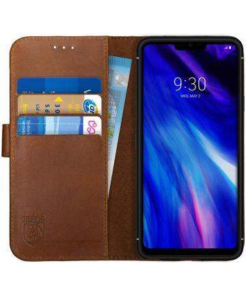 Rosso Deluxe LG G7 Hoesje Echt Leer Book Case Bruin
