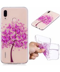 Huawei P20 Lite TPU Back Cover met Tree Print
