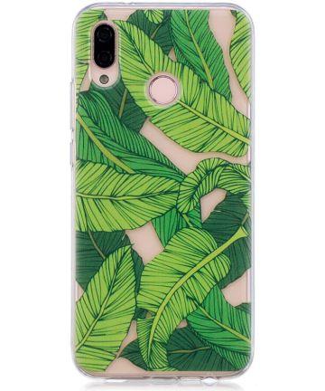 Huawei P20 Lite TPU Back Cover met Bladeren Print Hoesjes