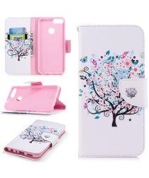 Huawei P Smart Portemonnee Hoesje Tree Print