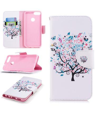 Huawei P Smart Portemonnee Hoesje Tree Print Hoesjes