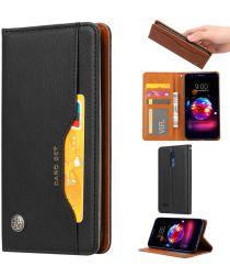 LG K11 Luxe Portemonnee Hoesje met Kaarthouder Zwart